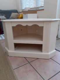 For Sale: TV Cabinet - corner style painted cream