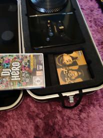 Wii Guitar Hero, Guitar and DJ Hero Renegade Hero Record Deck.