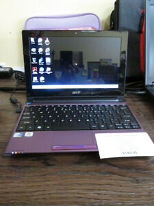 Purple ACER Aspire One NetBook For Sale At Nearly New Port Hope