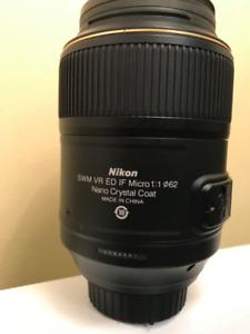 Lentille Nikon Macro 105mm état neuve