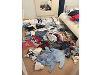 Massive bundle of baby boy clothes, hats and shoes. Newborn-6-9