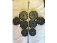 60kg PLUS CAST IRON WEIGHTS WITH A 5ft HEAVY DUTY BARBELL