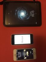 Ipad mini 2, iphone 5c, iphone 5s