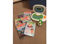Leap pad tag system with various story books and my first lapto