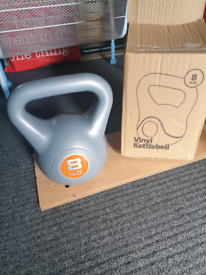 Kettlebell 8kg, home gym fitness weight training, Brand New box opened