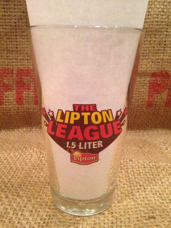 LIPTON ICE TEA ADVERTISING GLASS League Superheroes 16 Oz Libbey 1.5l