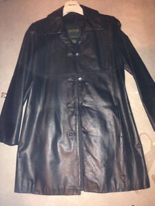 Women's leather jacket and boots