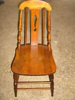 2 OLD FASHIONEDWOOD CHAIRS