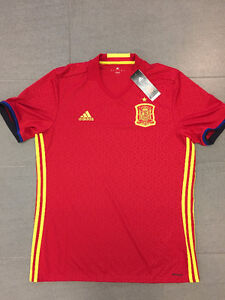 NEW Adidas Spain Soccer Jersey Authentic Red World Cup La Liga