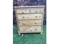 Victorian waxed pine drawers in very good condition