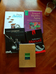 Textbooks, nursing and project management. APA manual.