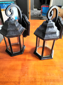 lovely pair of outdoor wall lanterns