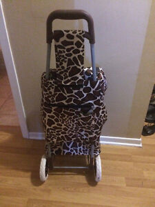 Stylish, LIKE NEW Book/Travel bag w/Large Wheels for Winter!