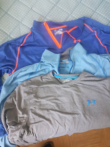 UNDER ARMOR FITTED AND LOOSE heat/cold gear