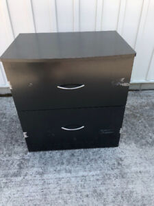 Extra wide two drawer file cabinet