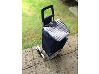 Stair Climber shopping trolley - Black with 6 wheels