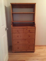 Ikea chest of drawers / shelves with fold out change table