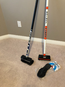 NO92  Two Curling Brooms with Slider