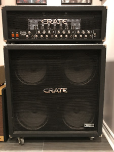 Crate Blue Voodoo 150 W Amplifier and Vintage 30 Crate 4x12 Cab