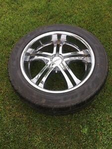 20 inch Crome wheels