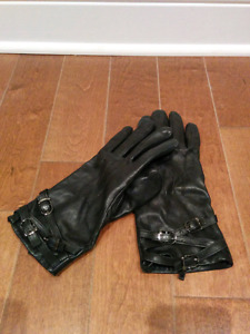 Women real leather gloves - size XL