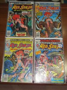 Vintage 1970's Conan the Barbarian & Red Sonja Comic Book Lot