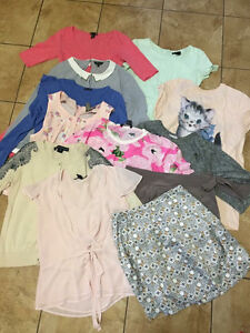 Lot of 13 pieces of women's brand clothing- dresses, tops