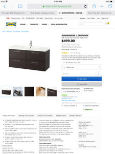 GODMORGON ikea vanity birch colour plus Skottviken double sink