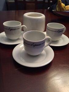Espresso dish set