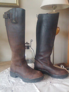 Knee high full leather boot
