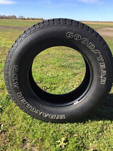 4 - Goodyear Wrangler AT/S LT275 / 65R18 Tires.