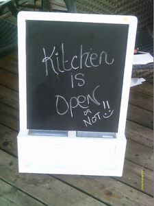 White Wooden Framed Chalkboard