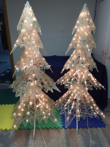 Decorative lighted Christmas Trees ($60.00 each)