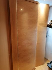 Stunning designer oak doors metal trim standard internal door NEW