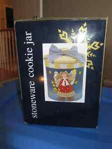 NEW in box - Christmas cookie Jar