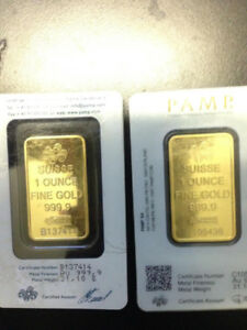 Pure gold bars 24karat