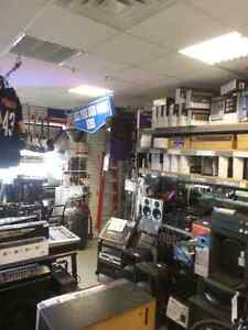 We sell DJ Equipment, speakers, and accessories that are New and Used. Find brands like Technics, Behringer, Pyle!