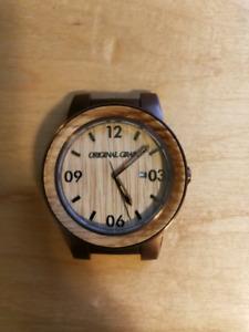 Original grain wood watch. Reclaimed whisky cask