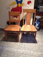 REDUCED oak chairs