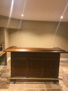 Solid maple wood bar