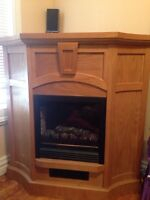 Electric fireplace, and mantel