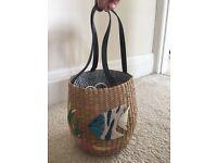 Pretty Woven Basket BRAND NEW
