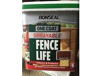 Fence spray paint