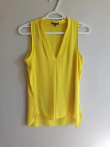 Size small Yellow flowing blouse - $10