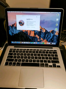 "MacBook pro 2015 13"" i5 128 gb add 8g ram with laptop bag"