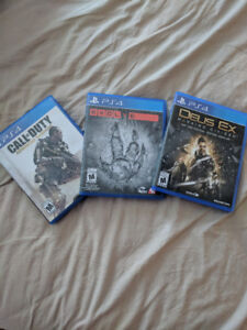 3 for 1 PS4. COD AW, EVOVLE, DEUS EX MANKIND DIVIDED