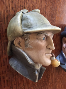 Classic Holmes and Watson Bosson Wall Plaques
