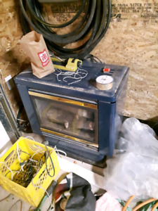 Used gas fireplace.