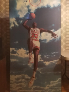 Michael Jordan wood mounted poster