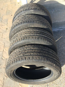 4 PNEUS / 4 ALL SEASON TIRES  225/55/17 CONTINENTAL CONTIPRO